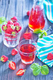 Strawberry drink Royalty Free Stock Image