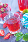 Strawberry drink Royalty Free Stock Photography