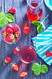 Strawberry drink Stock Image