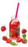 Strawberry drink. Stock Photos