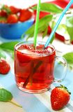 Strawberry drink, nonalcoholic beverage Stock Photos