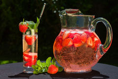 Strawberry drink Stock Photo