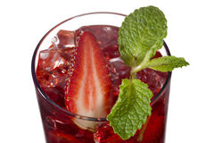 Strawberry drink with strawberry slice Royalty Free Stock Photo