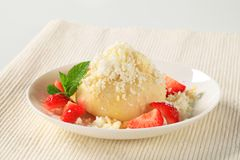Strawberry dumpling Stock Images