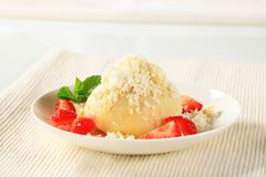 Strawberry dumpling Stock Image