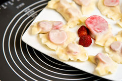 Strawberry dumplings Royalty Free Stock Photography