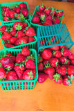 Strawberry early in plastic packages Stock Photo