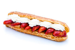 Strawberry eclair Royalty Free Stock Image
