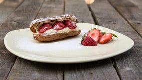 Strawberry eclair Royalty Free Stock Photo
