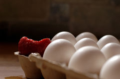 Strawberry with Eggs Royalty Free Stock Image