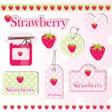 Strawberry elements Stock Photos