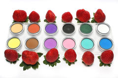 Strawberry and Eyeshadow Royalty Free Stock Photos