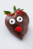 Strawberry with a face Royalty Free Stock Photos