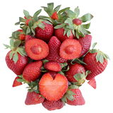 Strawberry Face isolated Royalty Free Stock Photography