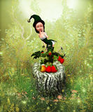 Strawberry fairy. 3d render of Strawberry fairy Royalty Free Stock Photo