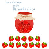 Strawberry farm product Royalty Free Stock Photos