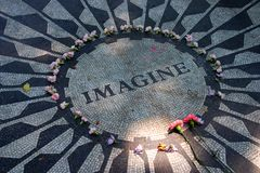 Strawberry Fields in Central Park, New York City Stock Photography