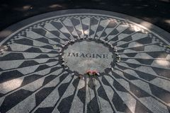 Strawberry Fields in Central Park, New York City Stock Photo