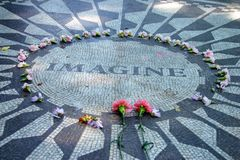 Strawberry Fields in Central Park, New York City Stock Image