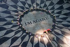 Strawberry Fields in Central Park, New York City Stock Images