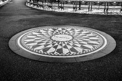 Strawberry Fields in Central Park. New York Stock Image