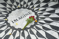 Strawberry Fields-Denkmal Stockfotos