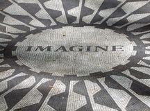 Strawberry Fields. Detail of the Strawberry Fields (memorial) for John Lennon in the Central Park of New York (USA stock photo