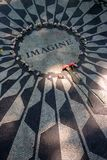 Strawberry Fields en Central Park, New York City Imágenes de archivo libres de regalías