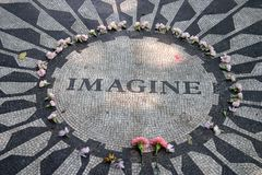 Strawberry Fields en Central Park, New York City Foto de archivo