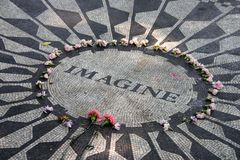 Strawberry Fields en Central Park, New York City Fotos de archivo libres de regalías