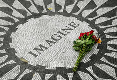 Strawberry Fields, John Lennon Memorial Photographie stock libre de droits