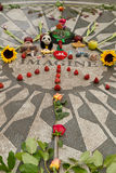 Strawberry fields, John lennon memorial in Central Park Stock Photos