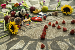 Strawberry Fields, John Lennon Memorial, Central Park, Nueva York, los E.E.U.U. Imagen de archivo libre de regalías