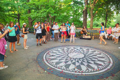 Strawberry Fields memorial in the Central Park Stock Photo