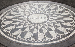 Strawberry Fields Memorial New York City Stock Image