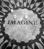 Strawberry Fields Mosaic. Strawberry Fields Central Park New York City Royalty Free Stock Image