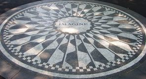 Strawberry Fields mosaic, NYC Royalty Free Stock Image