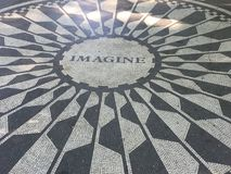 Strawberry fields mosaic NYC Royalty Free Stock Image