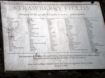Strawberry Fields New York Stock Fotografie