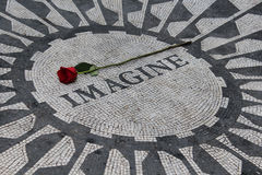Strawberry Fields, New York City. The famous memorial to John Lennon in Strawberry Fields, New York City royalty free stock photo