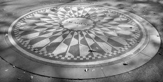 Strawberry Fields. New York, NY, USA OCTOBER 28:Strawberry Fields is a 2.5 acre area of Central Park that pays tribute to the late Beatle, John Lennon on october royalty free stock image