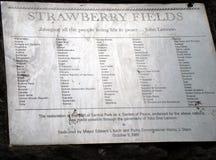 Strawberry Fields Nueva York Fotografía de archivo