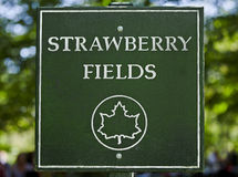Strawberry Fields Sign in Central Park stock photography
