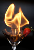 Strawberry and fire Royalty Free Stock Photos
