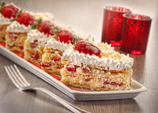 STRAWBERRY FLAN Stock Photography