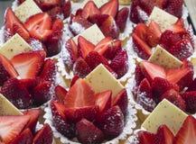 Strawberry flans Royalty Free Stock Photo