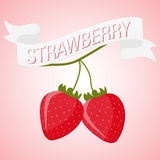 Strawberry flat illustration. Vector eps 10 Royalty Free Stock Images