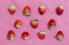 Strawberry flatray Stock Photo
