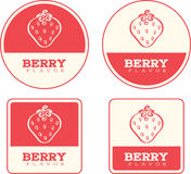 Strawberry Flavor Food Labels Royalty Free Stock Photos