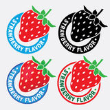Strawberry Flavor Seal / Mark Royalty Free Stock Images